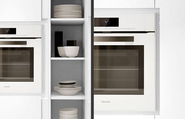 Detalle Muebles de cocina modernos lacados