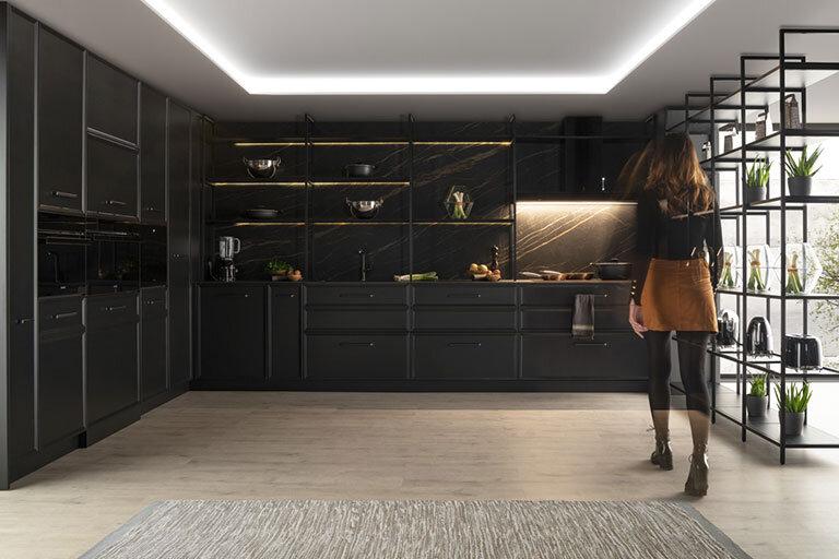 Muebles de Cocina moderna negra