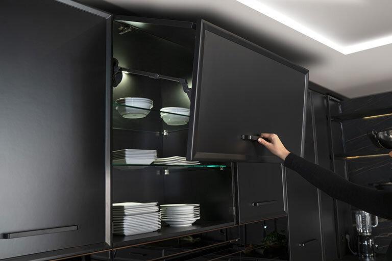Detalle Cocina vanguardia negra