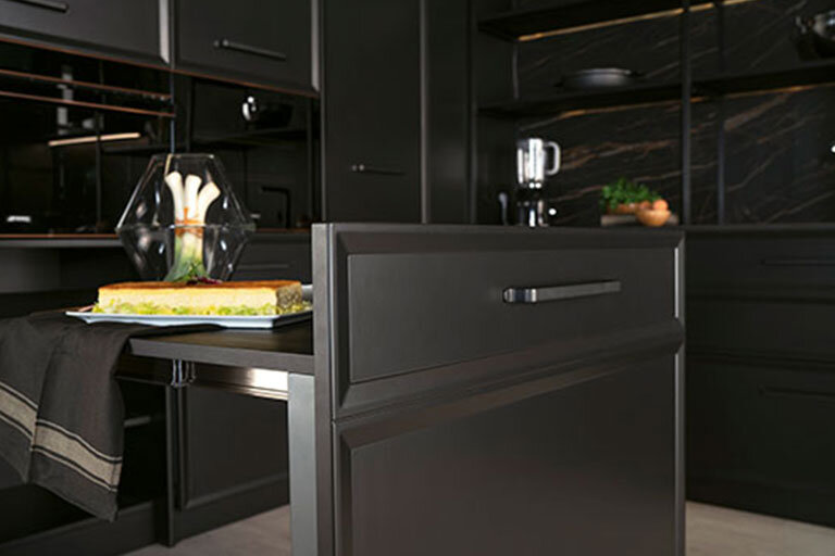 Muebles de cocina modernos negros