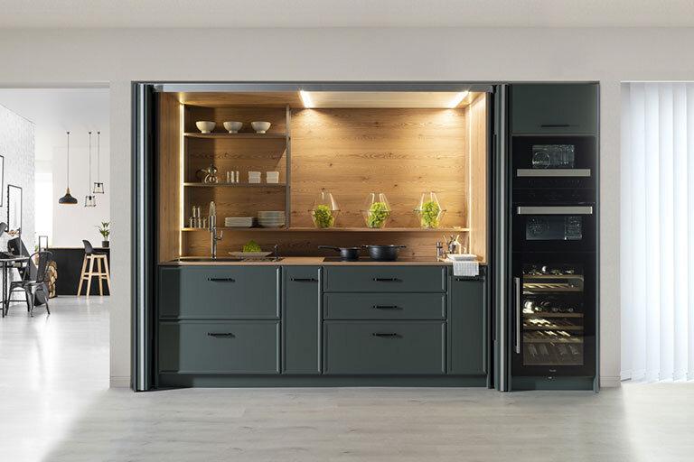 Muebles de cocina de diseño verde