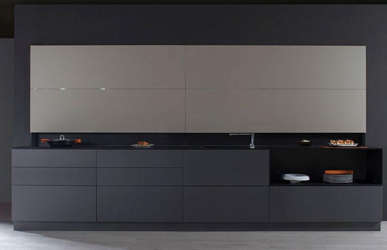 Muebles de cocina modernos gris