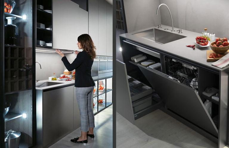 Detalles cocina moderna gris