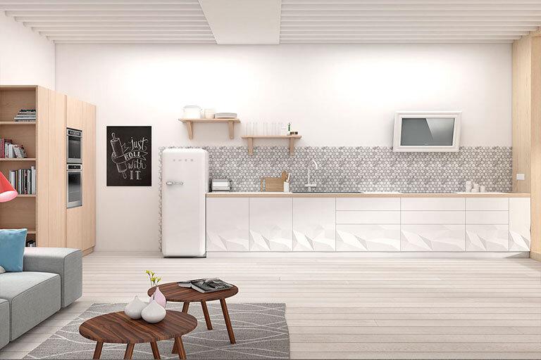 Cocina muebles blancos alicante